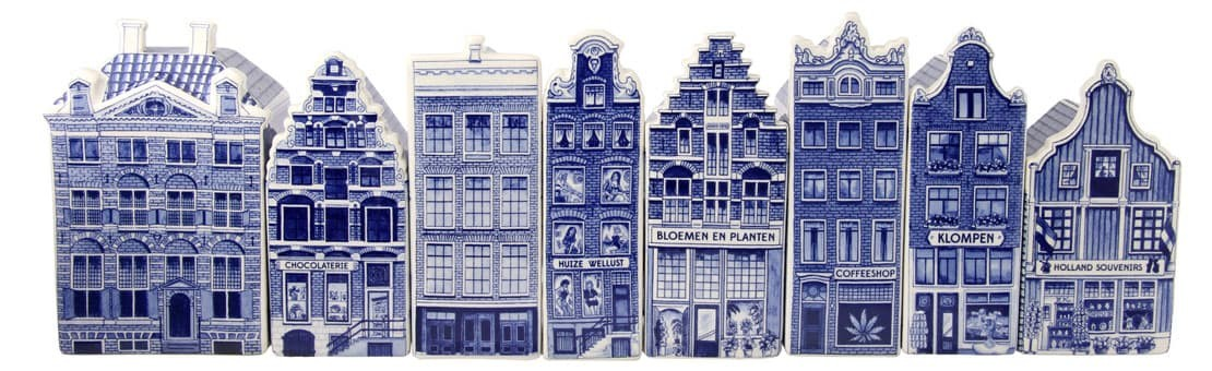 Collection of Delft Blue Canal Houses